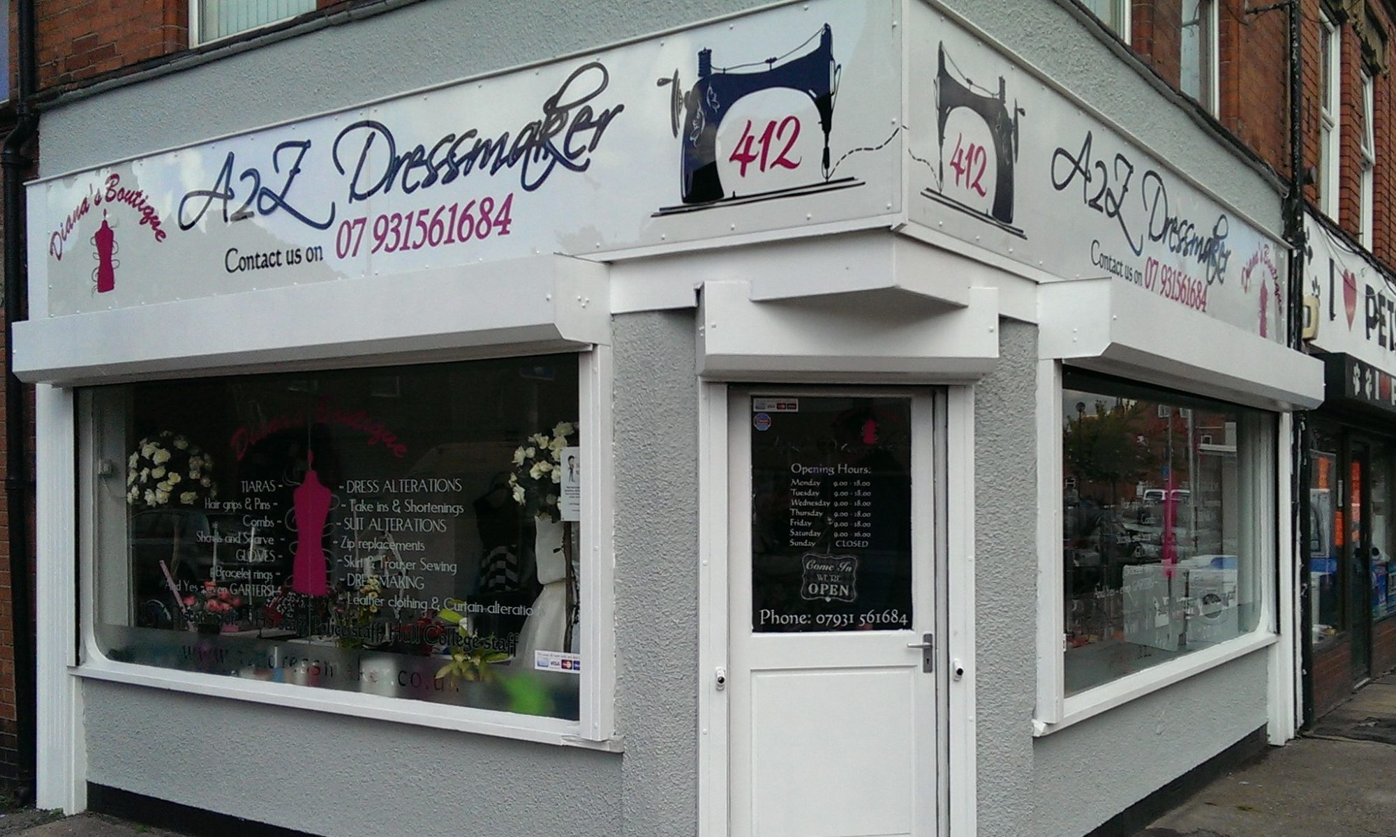 Clothing alterations|Dressmaker|412 Hessle Road, Hull  07931 561684